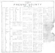 Index, Fresno County 1923